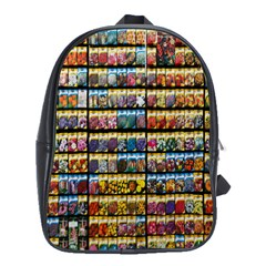 Flower Seeds For Sale At Garden Center Pattern School Bags(large)