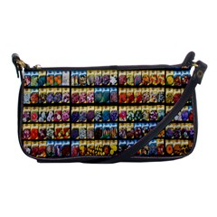 Flower Seeds For Sale At Garden Center Pattern Shoulder Clutch Bags