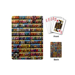 Flower Seeds For Sale At Garden Center Pattern Playing Cards (mini)