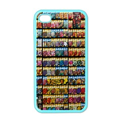 Flower Seeds For Sale At Garden Center Pattern Apple iPhone 4 Case (Color)