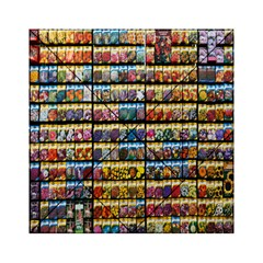 Flower Seeds For Sale At Garden Center Pattern Acrylic Tangram Puzzle (6  X 6 )