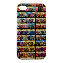 Flower Seeds For Sale At Garden Center Pattern Apple Iphone 4/4s Premium Hardshell Case