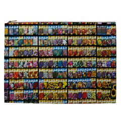 Flower Seeds For Sale At Garden Center Pattern Cosmetic Bag (xxl)