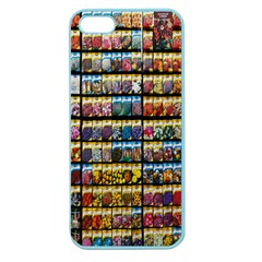 Flower Seeds For Sale At Garden Center Pattern Apple Seamless Iphone 5 Case (color)