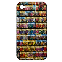 Flower Seeds For Sale At Garden Center Pattern Apple Iphone 4/4s Hardshell Case (pc+silicone)