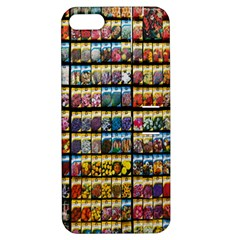 Flower Seeds For Sale At Garden Center Pattern Apple Iphone 5 Hardshell Case With Stand