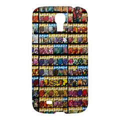Flower Seeds For Sale At Garden Center Pattern Samsung Galaxy S4 I9500/i9505 Hardshell Case