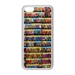 Flower Seeds For Sale At Garden Center Pattern Apple iPhone 5C Seamless Case (White)
