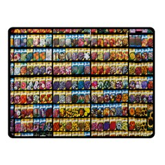 Flower Seeds For Sale At Garden Center Pattern Double Sided Fleece Blanket (small)