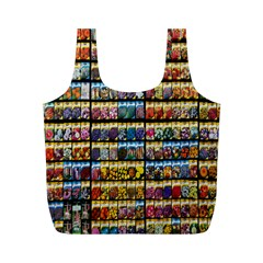 Flower Seeds For Sale At Garden Center Pattern Full Print Recycle Bags (m)