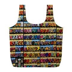 Flower Seeds For Sale At Garden Center Pattern Full Print Recycle Bags (l)
