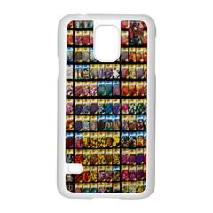 Flower Seeds For Sale At Garden Center Pattern Samsung Galaxy S5 Case (White)