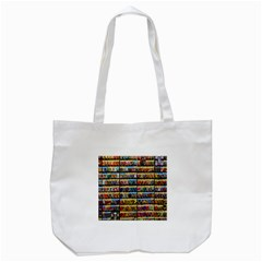 Flower Seeds For Sale At Garden Center Pattern Tote Bag (white)