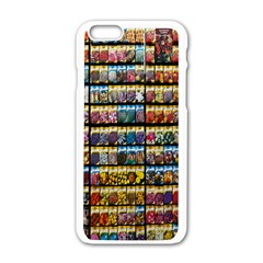 Flower Seeds For Sale At Garden Center Pattern Apple Iphone 6/6s White Enamel Case