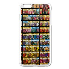 Flower Seeds For Sale At Garden Center Pattern Apple Iphone 6 Plus/6s Plus Enamel White Case