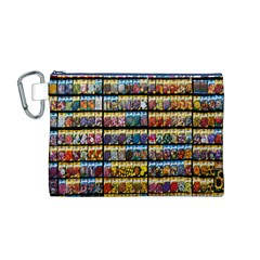 Flower Seeds For Sale At Garden Center Pattern Canvas Cosmetic Bag (m)