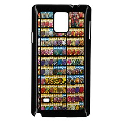 Flower Seeds For Sale At Garden Center Pattern Samsung Galaxy Note 4 Case (black)