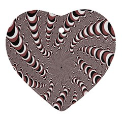 Digital Fractal Pattern Ornament (Heart)