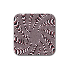 Digital Fractal Pattern Rubber Coaster (square)