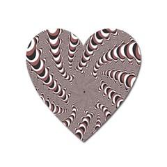 Digital Fractal Pattern Heart Magnet