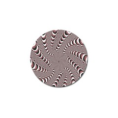 Digital Fractal Pattern Golf Ball Marker