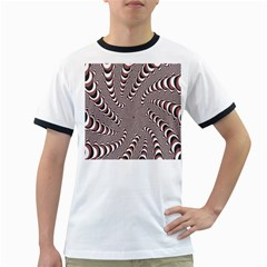 Digital Fractal Pattern Ringer T-Shirts