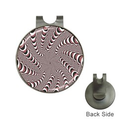 Digital Fractal Pattern Hat Clips With Golf Markers