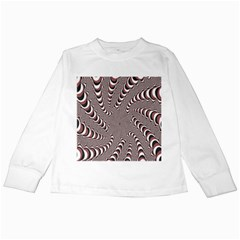 Digital Fractal Pattern Kids Long Sleeve T Shirts