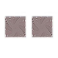 Digital Fractal Pattern Cufflinks (square)