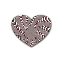 Digital Fractal Pattern Heart Coaster (4 Pack)