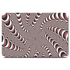 Digital Fractal Pattern Large Doormat
