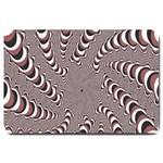 Digital Fractal Pattern Large Doormat  30 x20 Door Mat - 1