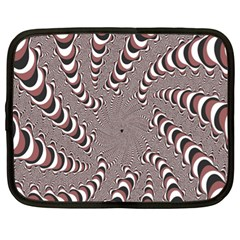 Digital Fractal Pattern Netbook Case (xl)