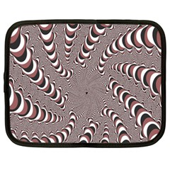 Digital Fractal Pattern Netbook Case (xxl)