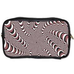 Digital Fractal Pattern Toiletries Bags