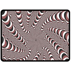 Digital Fractal Pattern Fleece Blanket (Large)