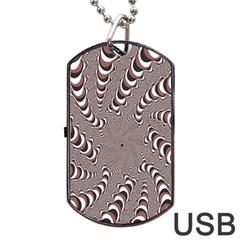Digital Fractal Pattern Dog Tag USB Flash (One Side)