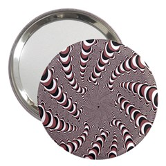 Digital Fractal Pattern 3  Handbag Mirrors