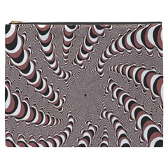 Digital Fractal Pattern Cosmetic Bag (XXXL)
