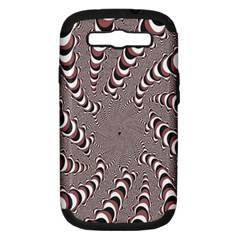Digital Fractal Pattern Samsung Galaxy S III Hardshell Case (PC+Silicone)