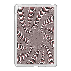 Digital Fractal Pattern Apple Ipad Mini Case (white)