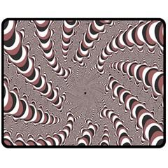 Digital Fractal Pattern Double Sided Fleece Blanket (medium)