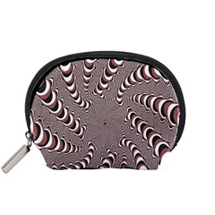 Digital Fractal Pattern Accessory Pouches (Small)