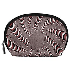 Digital Fractal Pattern Accessory Pouches (large)