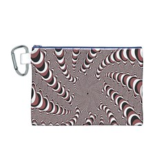 Digital Fractal Pattern Canvas Cosmetic Bag (M)