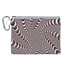 Digital Fractal Pattern Canvas Cosmetic Bag (l)