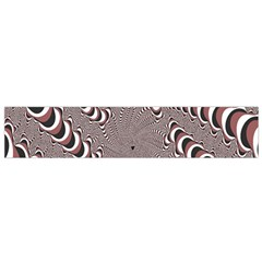 Digital Fractal Pattern Flano Scarf (small)