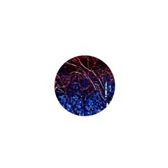 Autumn Fractal Forest Background 1  Mini Magnets