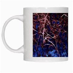 Autumn Fractal Forest Background White Mugs