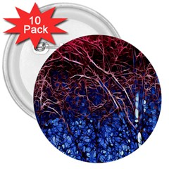 Autumn Fractal Forest Background 3  Buttons (10 Pack)